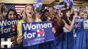 USA2016: Hillary alla conquista dell'elettorato rosa
